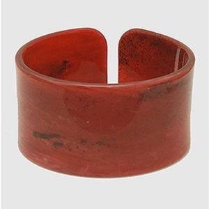 Deep Red Medium Cellulose Open Cuff
